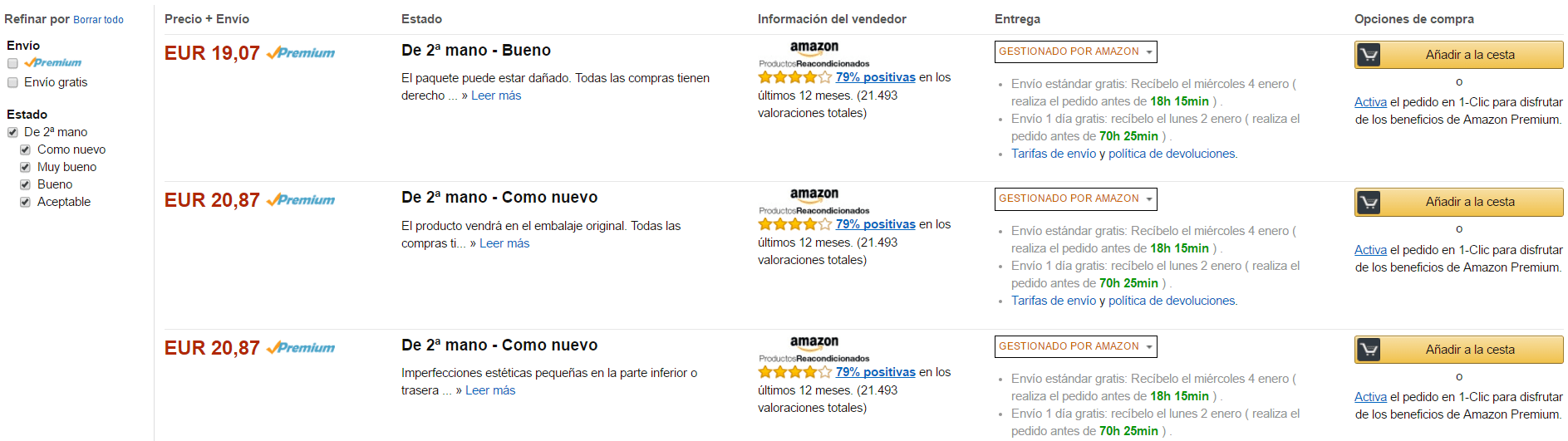 productos reacondicionados amazon