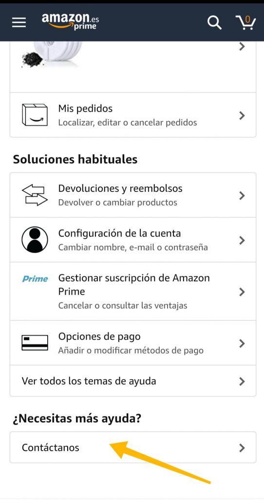Reclamar a Amazon