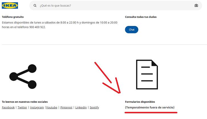 Reclamación Ikea